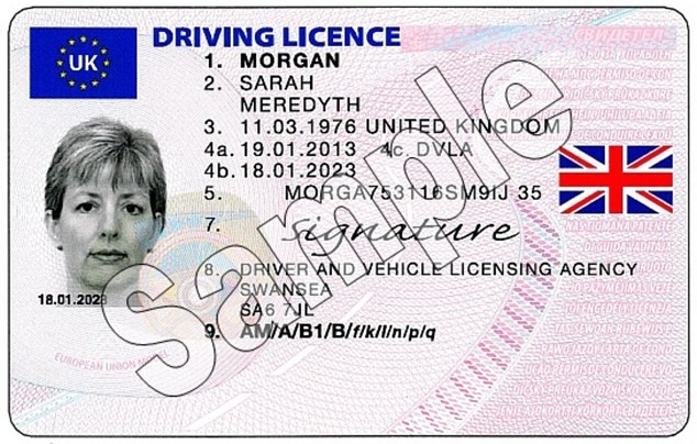 Union flag to be shown on driving licences