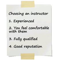 4 things you need to think about when choosing a driving instructor